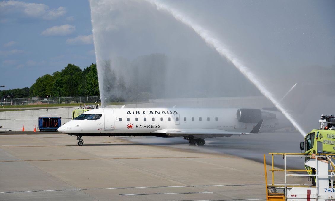 RDU Inaugural Montreal Flight
