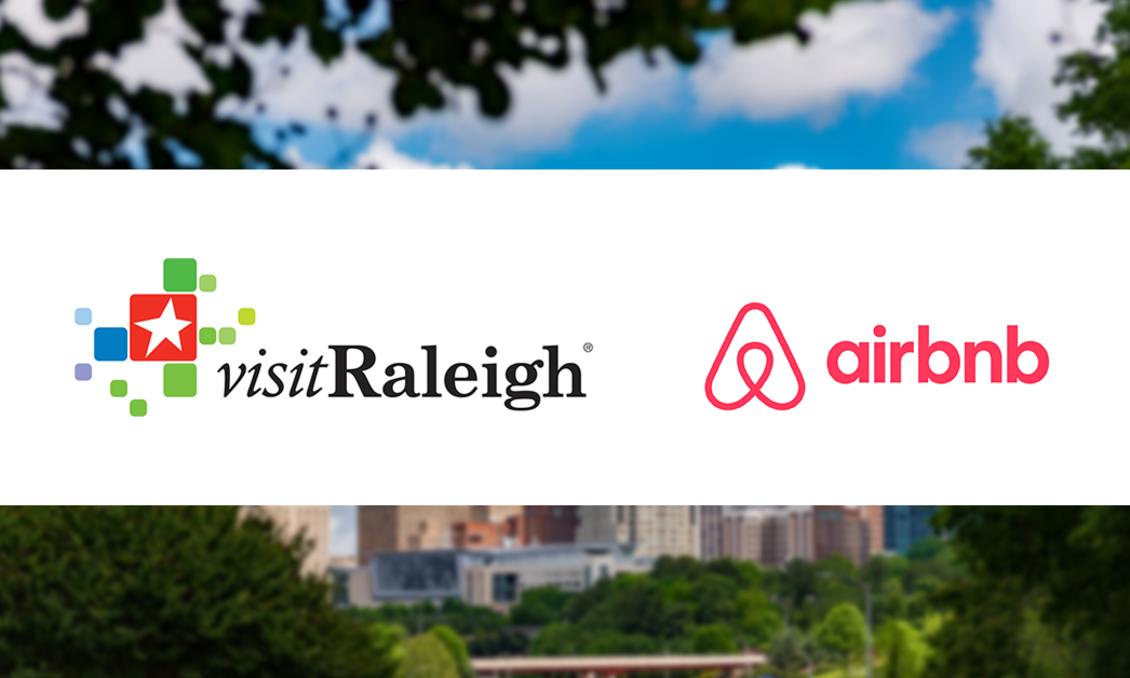 Visit Raleigh & Airbnb Logos
