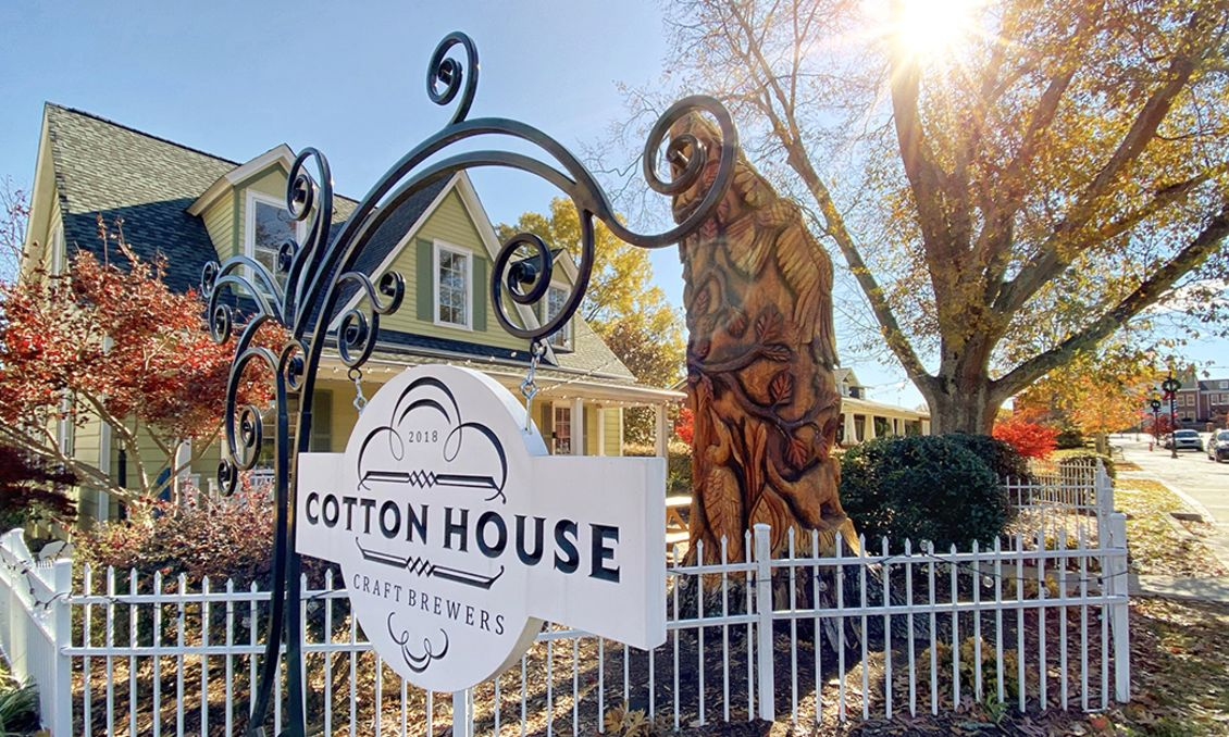 Outdoors autum view of Cotton House Craft Brewers