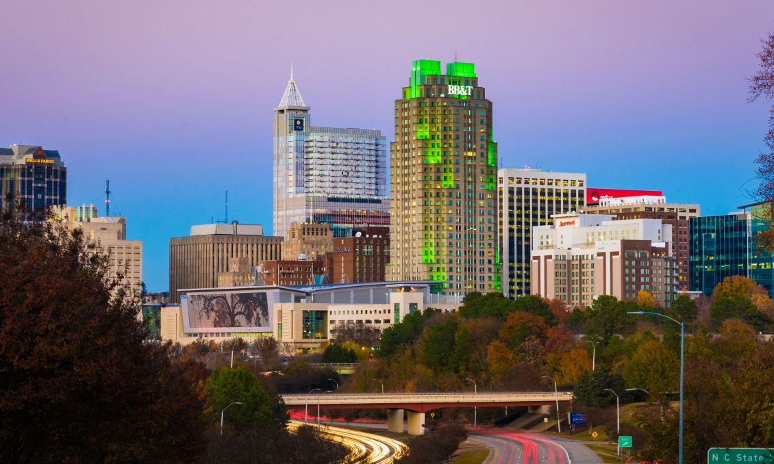 December 2017 Downtown Raleigh Skyline