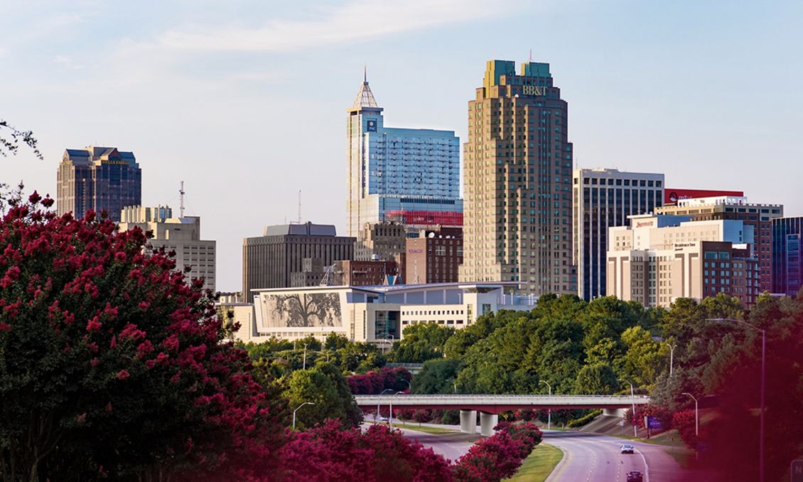 Downtown Raleigh Skyline July 2018