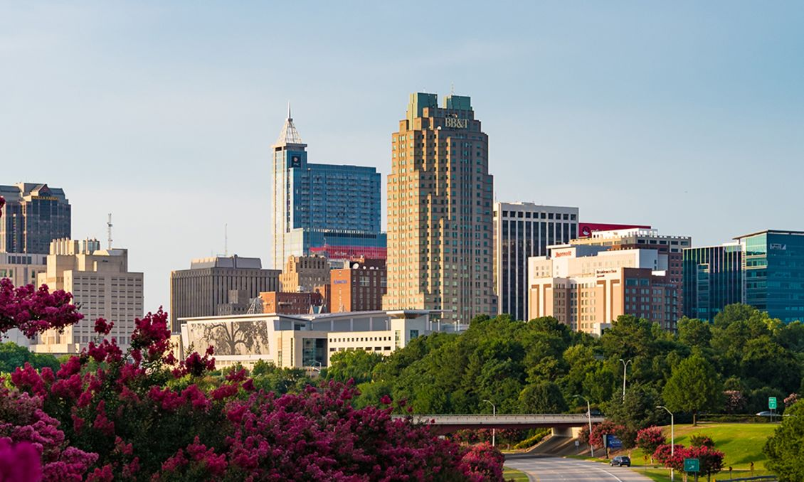 Downtown Raleigh Skyline July 2017