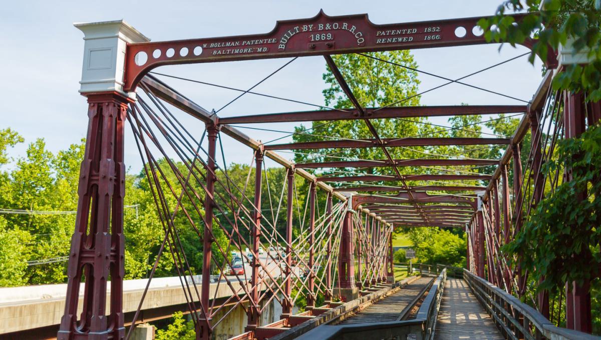 Almost Walking Under Bollman Bridge at Historic Savage Mill