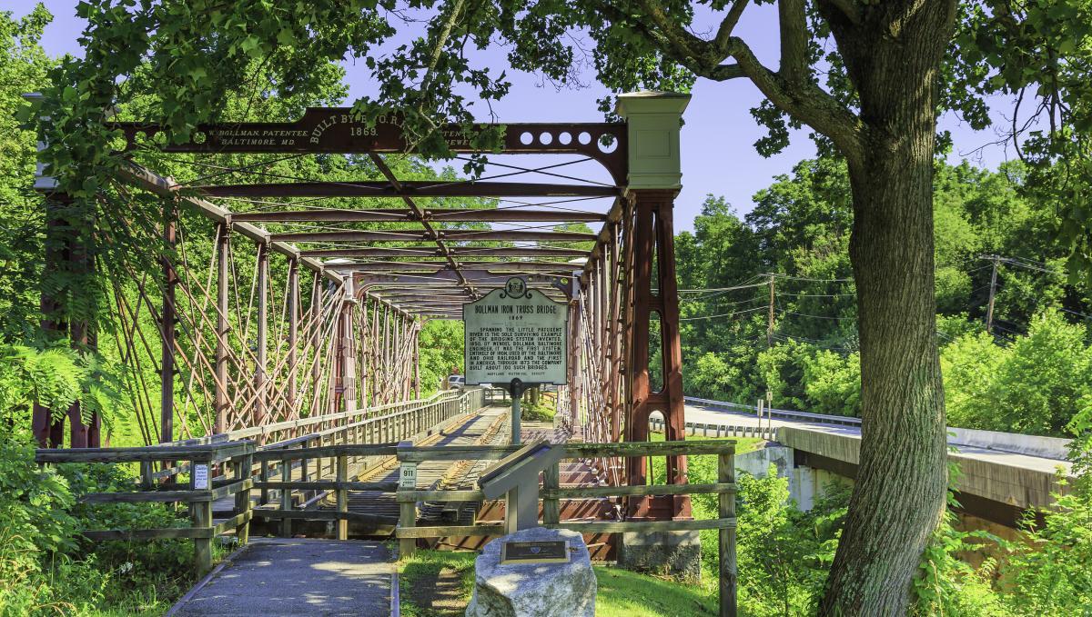 Bollman Truss Railroad Bridge at Savage Mill