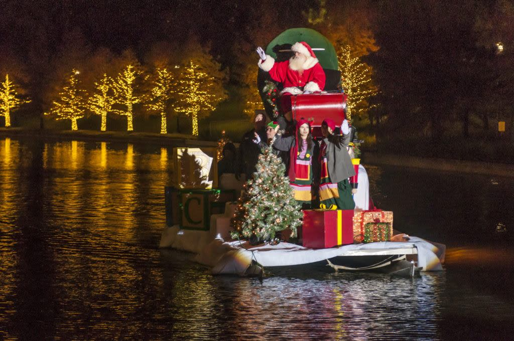 Santa on The Waterway at Lighting of the Doves