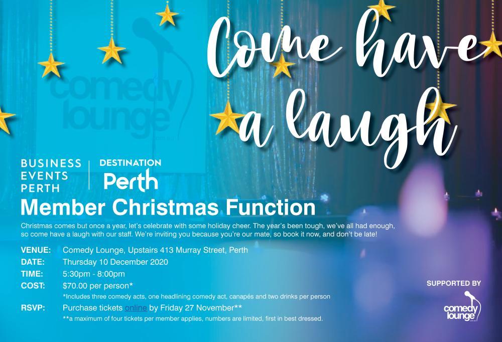 BE Perth Member Christmas Function Invite