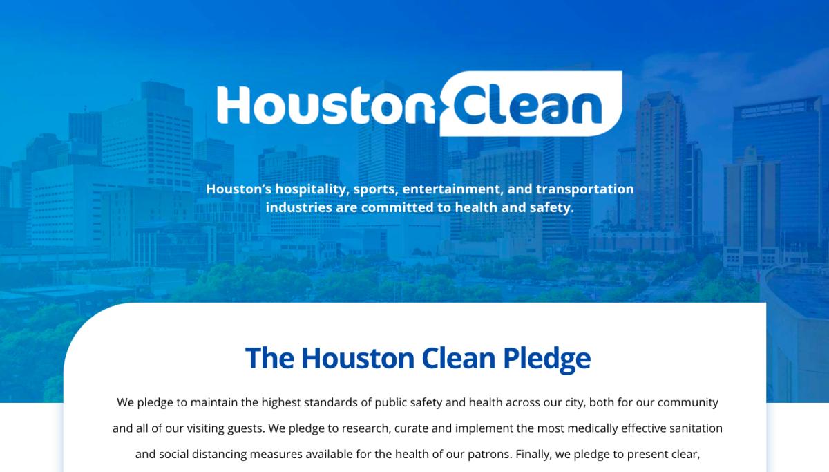 Houston clean pledge