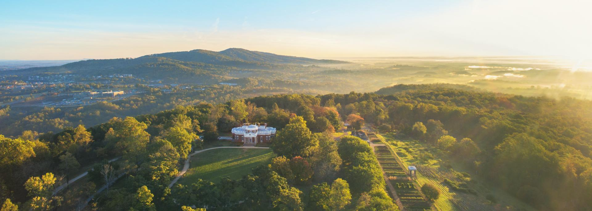 Aerial photo of Monticello