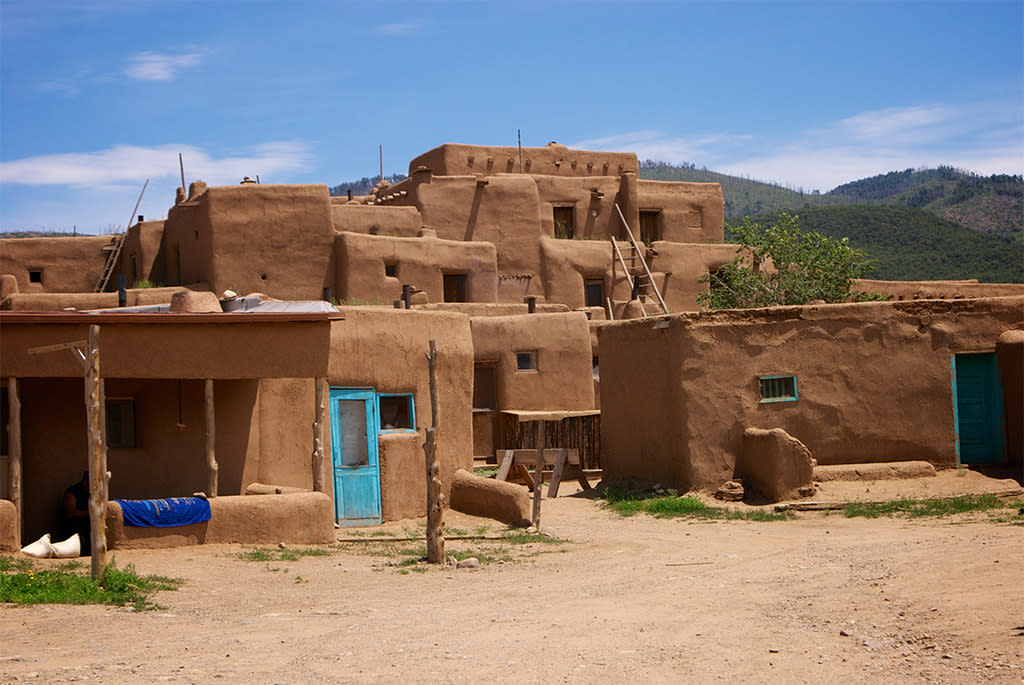 The Historic Taos Pueblo. One of North America's continually inhabited locations.