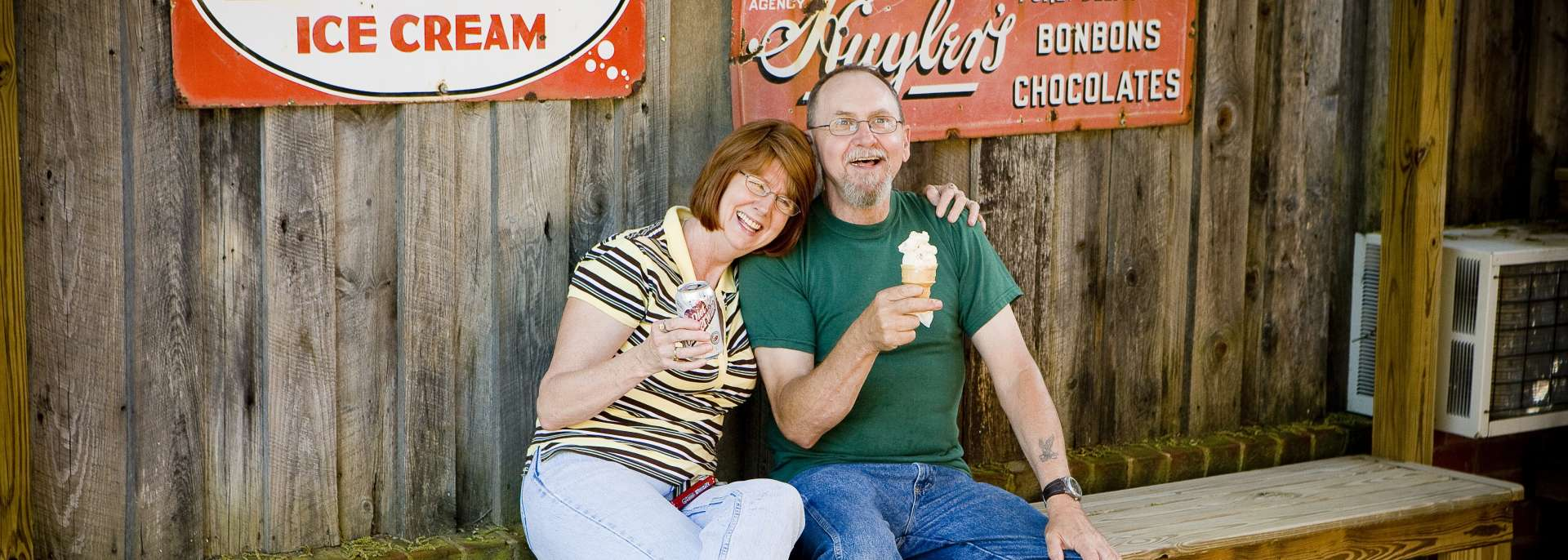 Couple enjoying Gold Hill