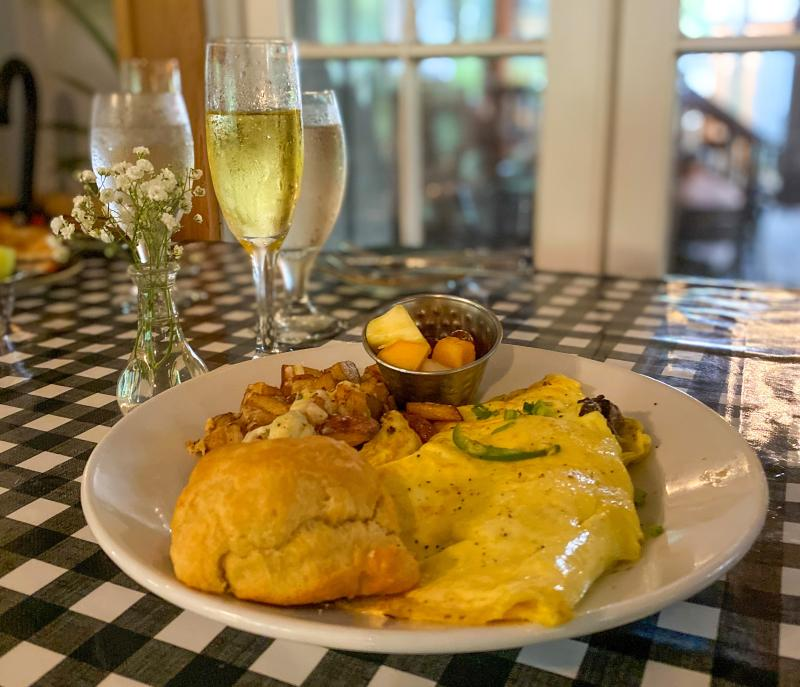 Delicious brunch at Palmettos on the Bayou in Slidell, LA