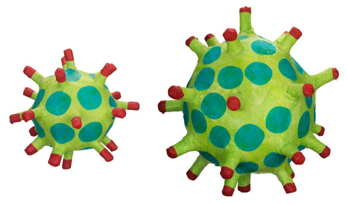 Coronavirus Pinatas by Francisco Rodriguez at the Albuquerque Museum