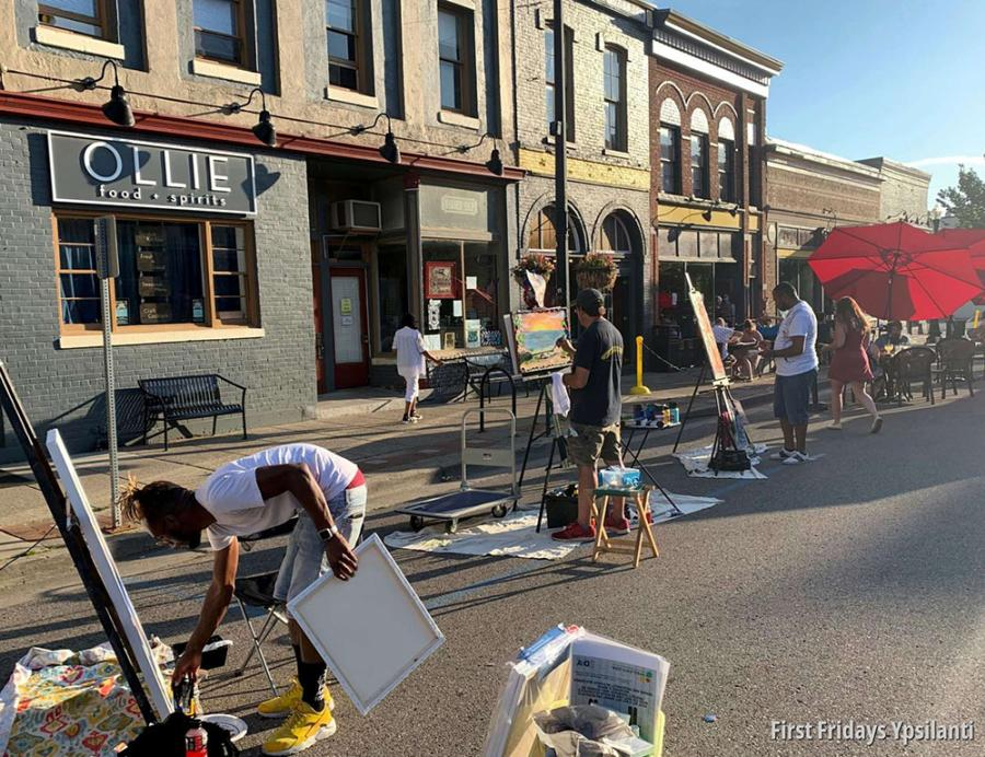 Painters at First Fridays Ypsilanti