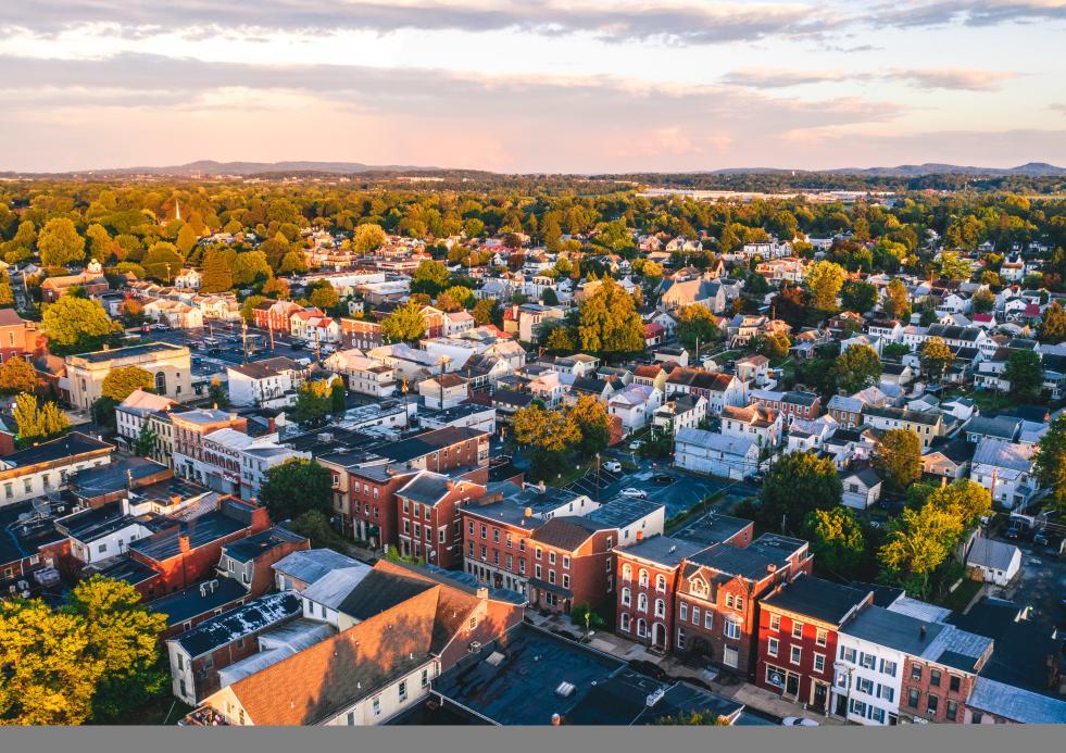 Aerial of Downtown Mechanicsburg