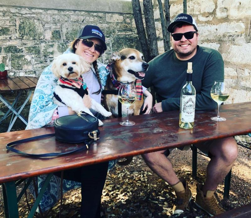 There are over 30 pet-friendly wineries in Fredericksburg