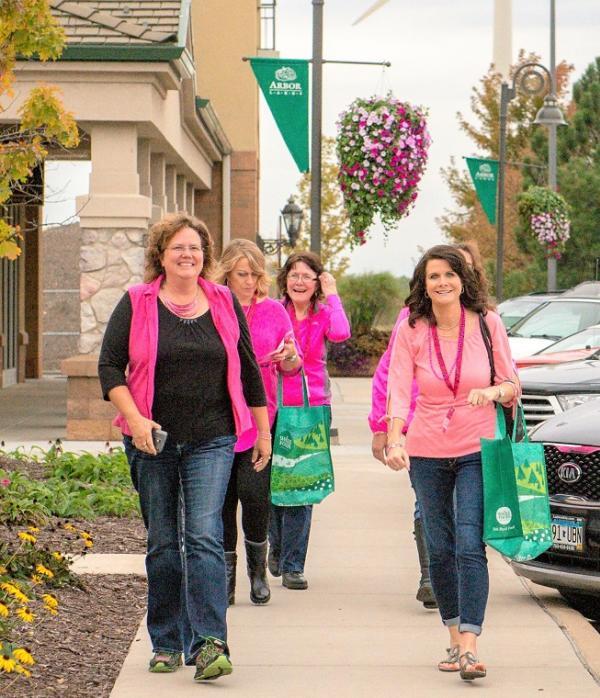 Ladies wearing pink