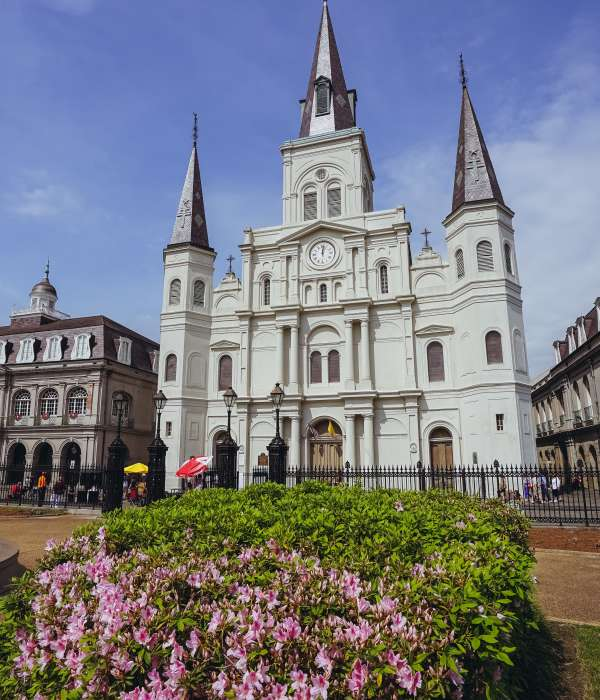 Jackson Square – Cathédrale St. Louis – Printemps