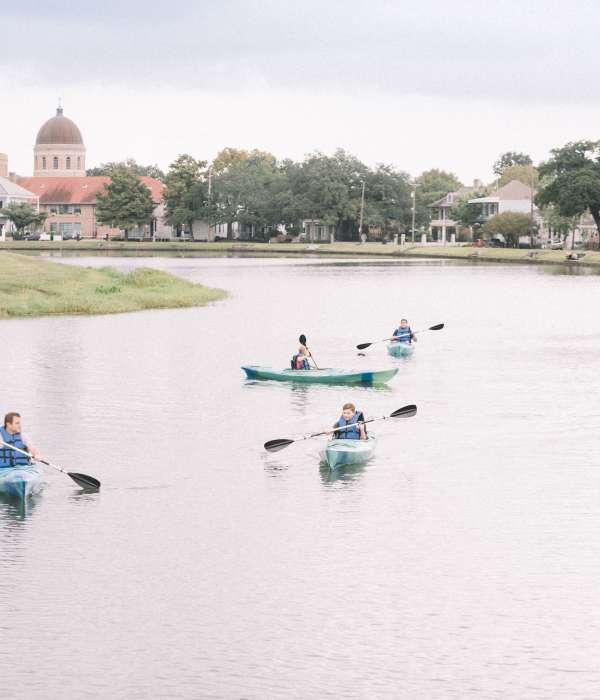 Kayak down Bayou St. John