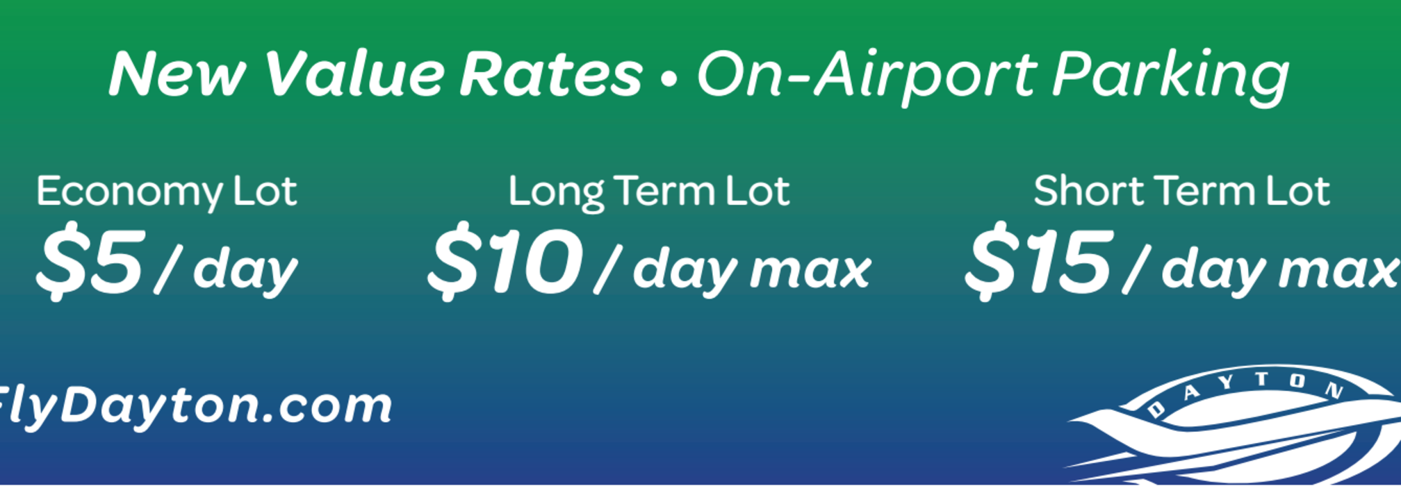 Dayton airport on-airport parking fees