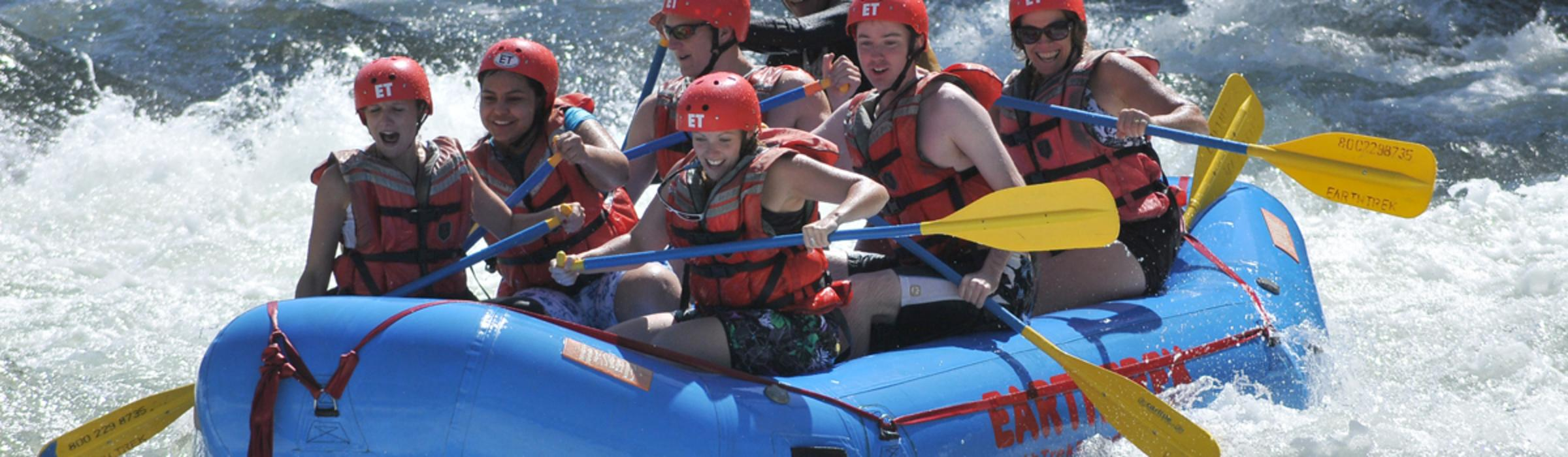 Rafting on the American River with Earthtrek Expeditions