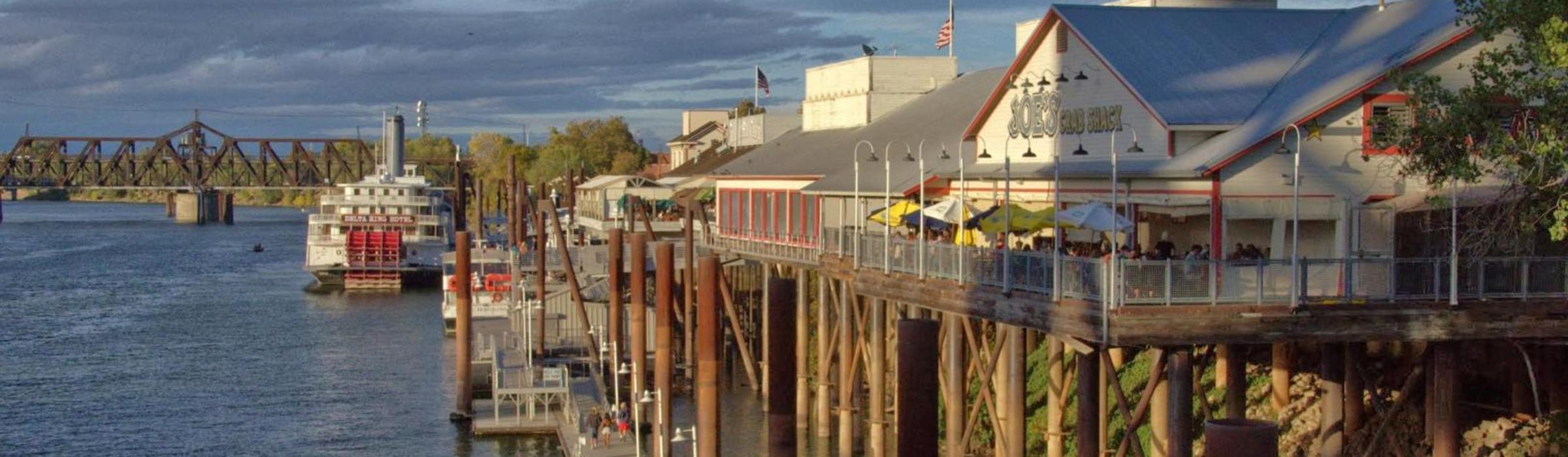 city scene-Old Sac river view