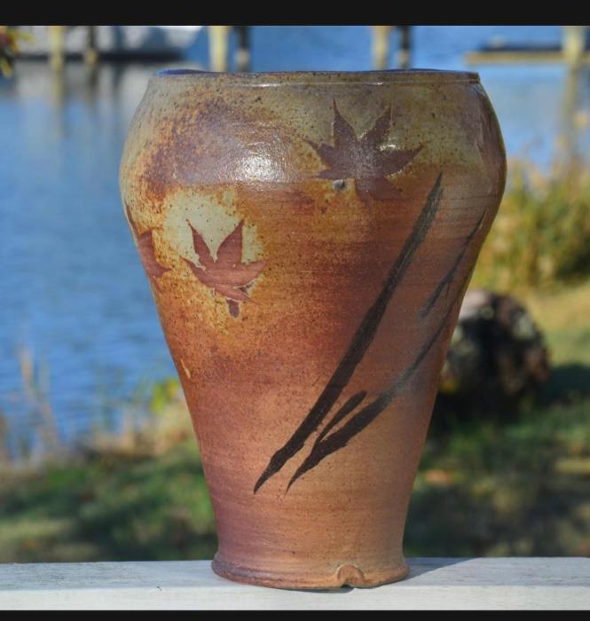 Red Maple Leaf vase by Yang-ha Lee-Wicker.