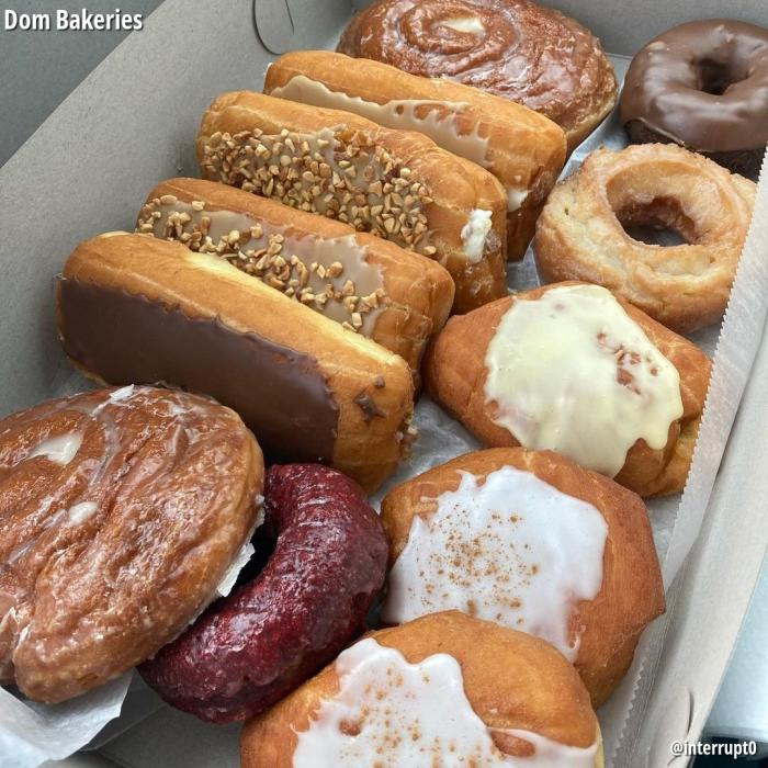 Dom Bakeries donut selection