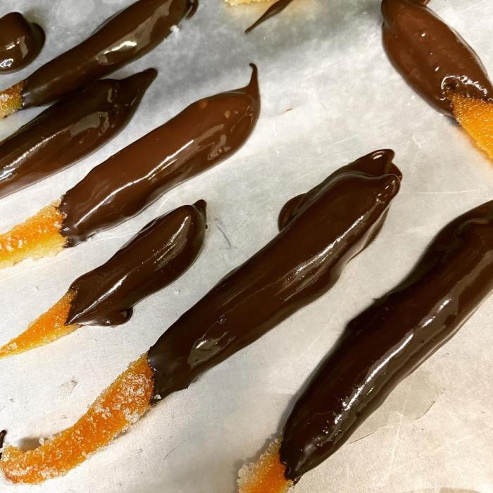 Chocolate-Covered Orange Peels from Brocket Farms
