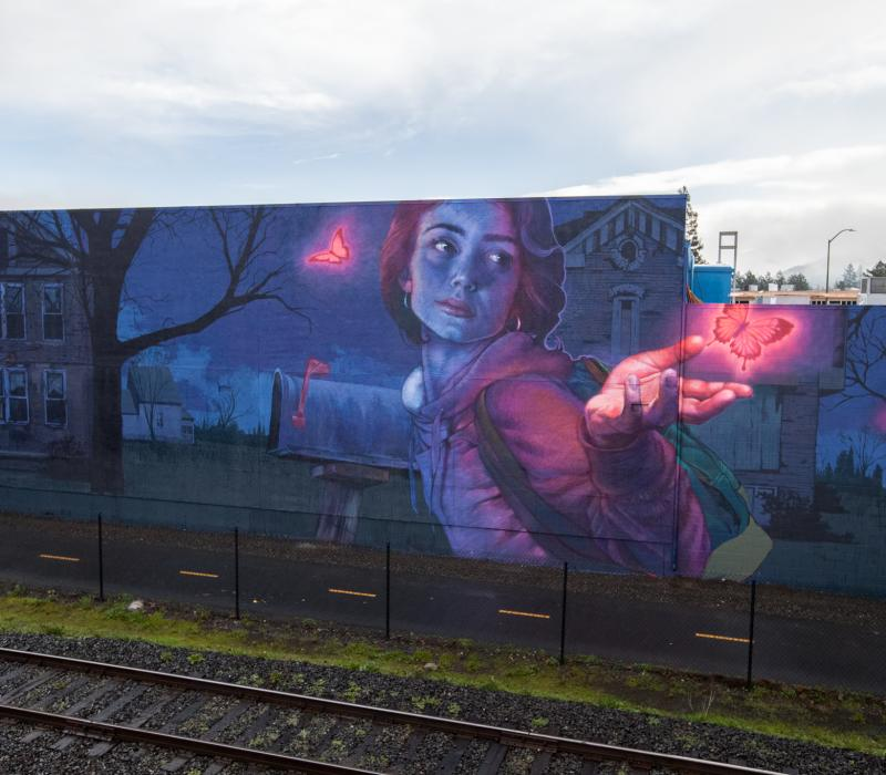 Knocking on Heaven's Door -  by Bezt of Etam Cru & Natalia Rak - Napa Rail Arts disctrict