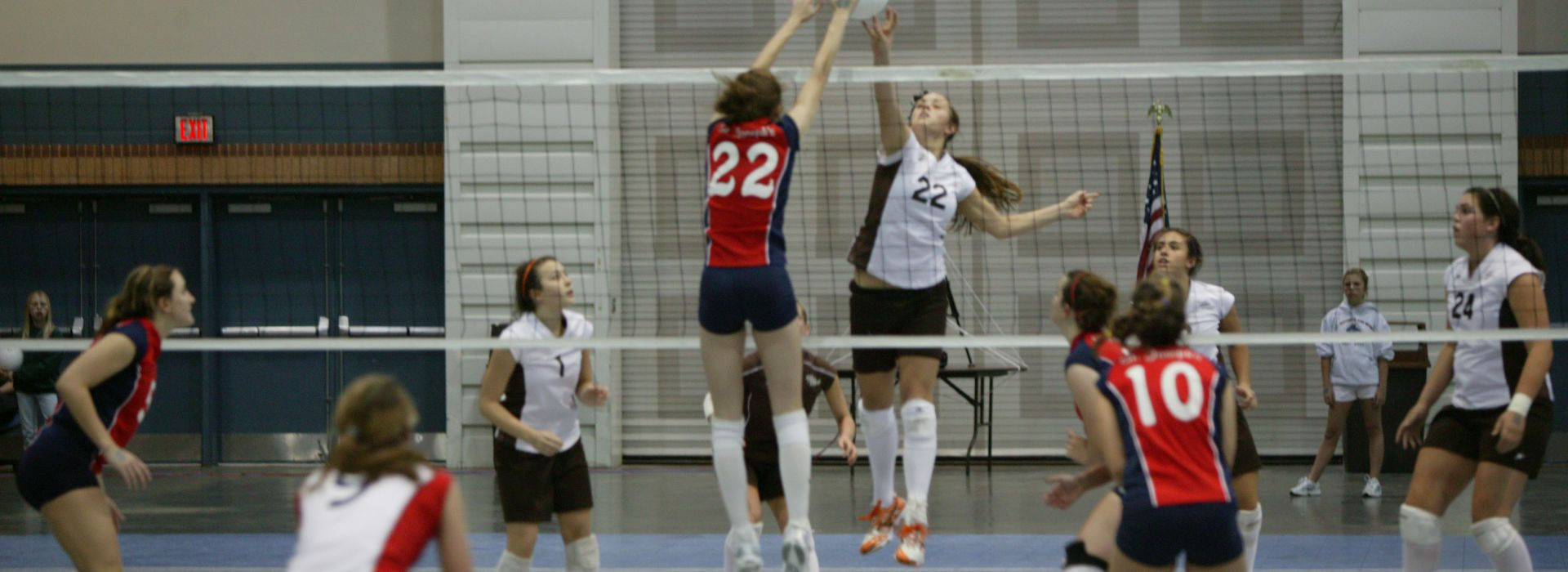 A volleyball tournament at the Pontchartrain Center in Jefferson Parish, LA