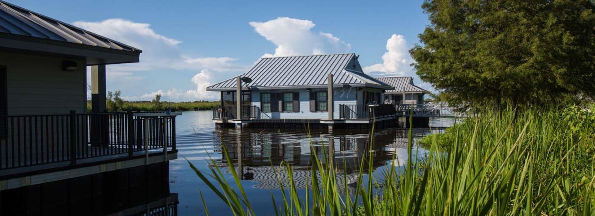 Bayou Segnette Floating Cabin
