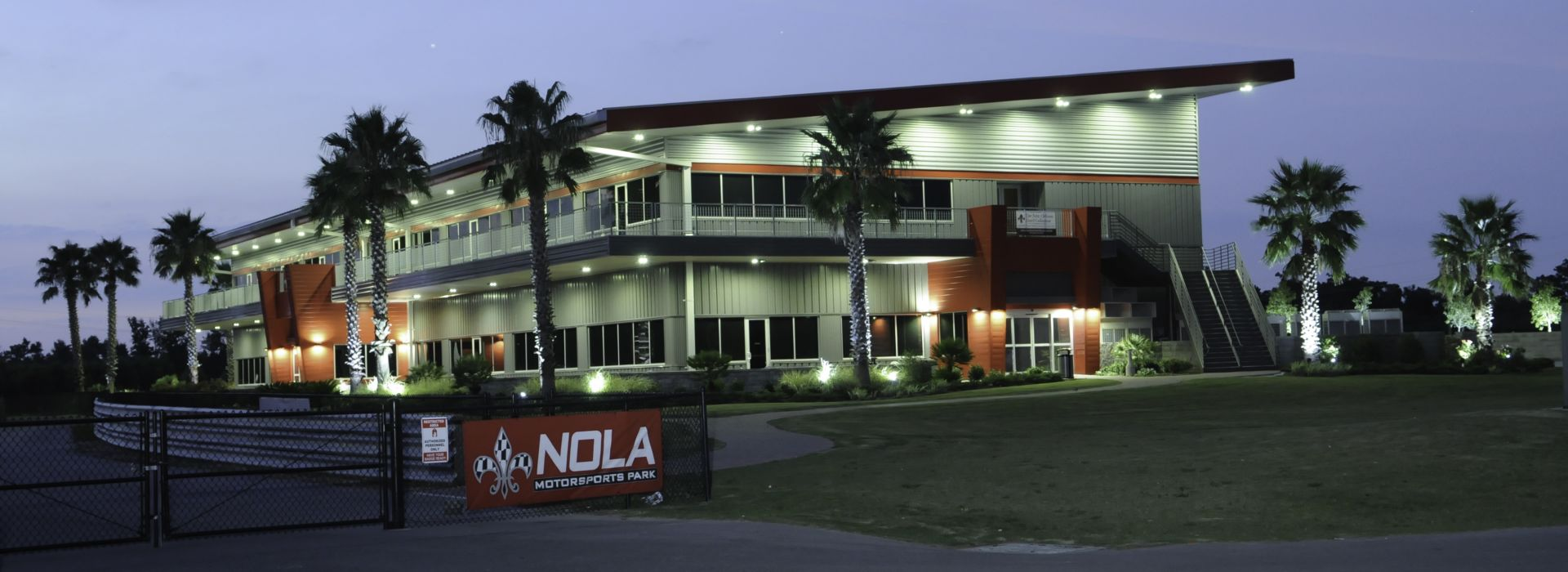 Exterior of the NOLA Motorsports Park in Jefferson Parish, LA