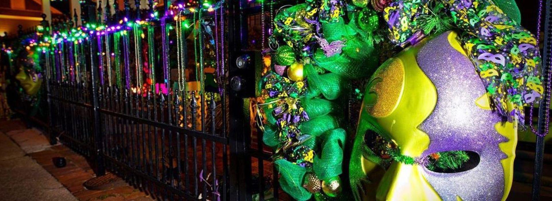Gretna Mardi Gras Decor
