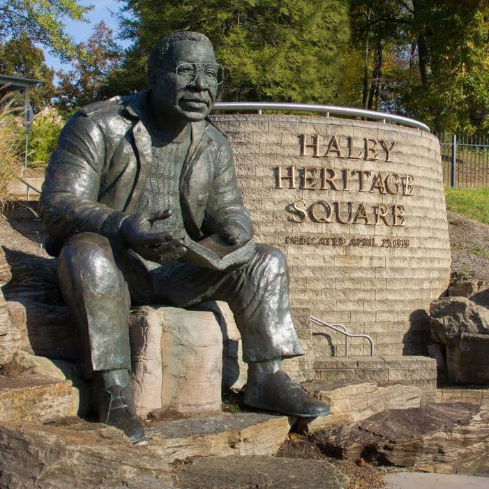 Alex Haley Heritage Square Statue In Knoxville, TN