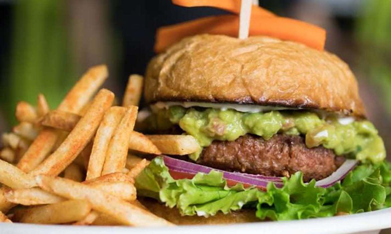 Healthy Junk burger & fries