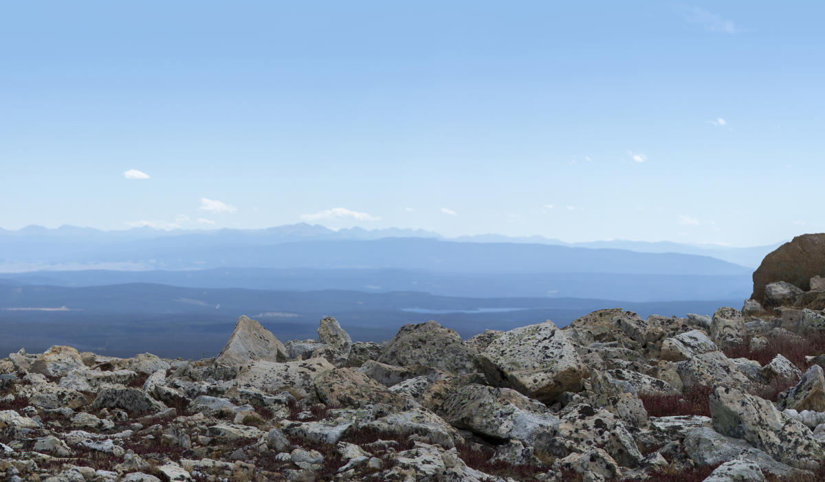 View from Medicine Bow Peak, Snowy Range Wyoming