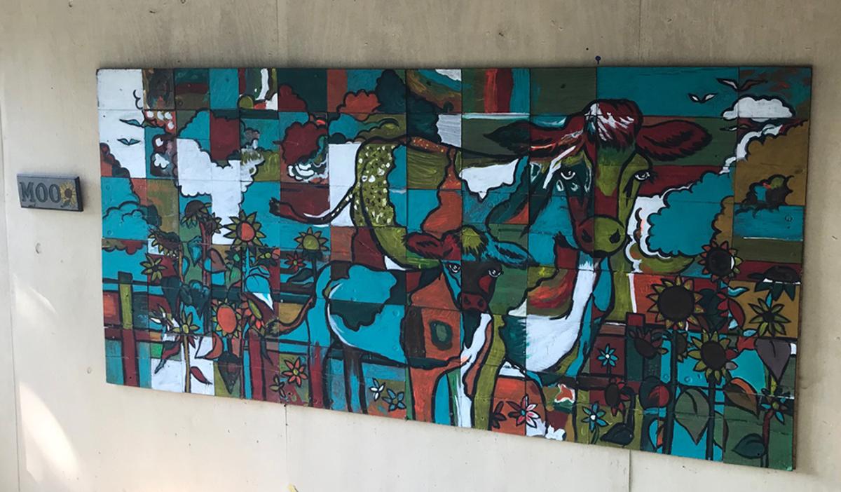 Cown mural at Art Barn's Art Blitz 2021