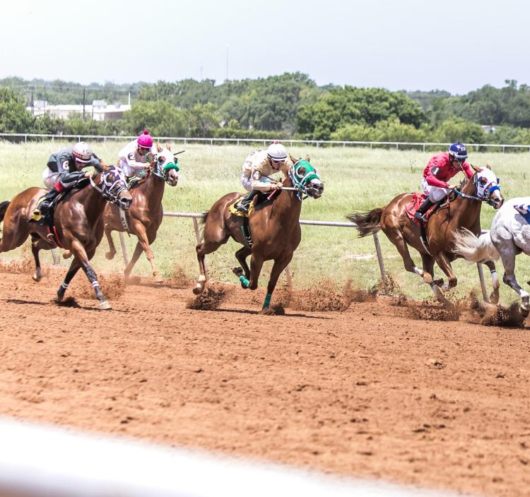 Kick of the summer pari-mutuel horse racing season with a trip to the Gillespie County Fair Grounds on Fourth of July Weekend