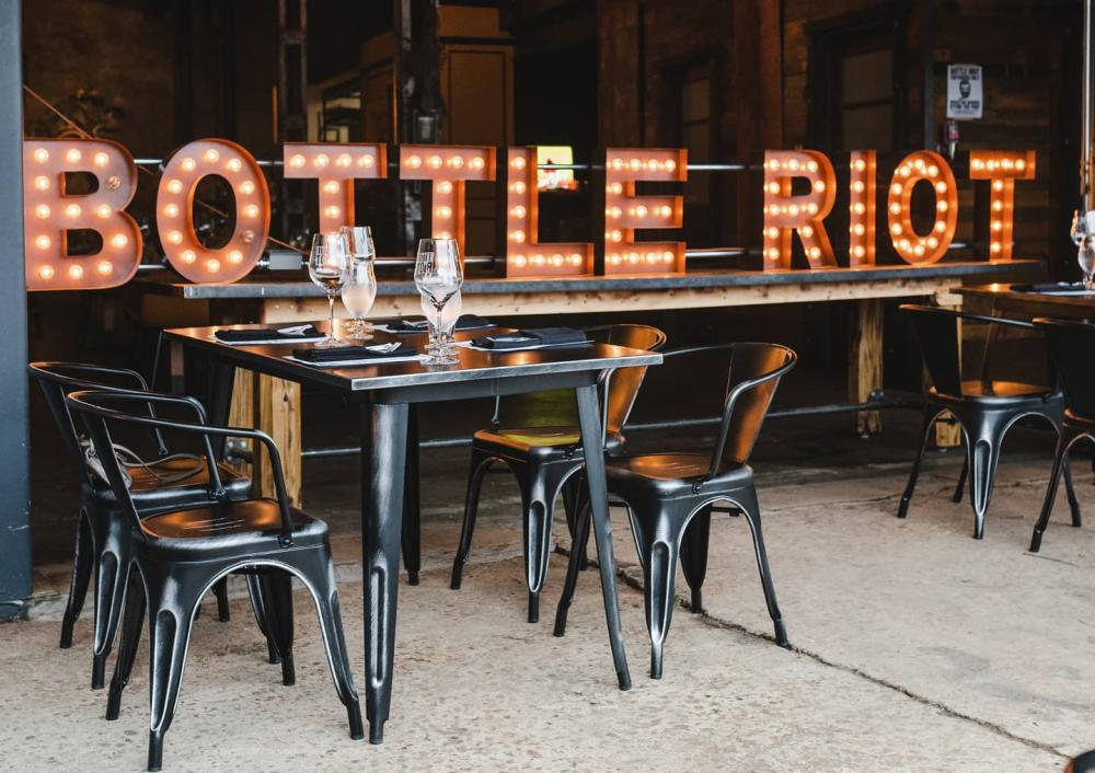 Bottle Riot is an LGBTQ friendly business in Asheville's River Arts District