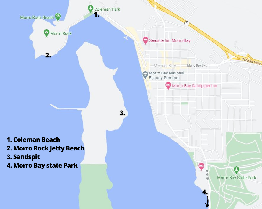 Other Morro Bay Beaches Map