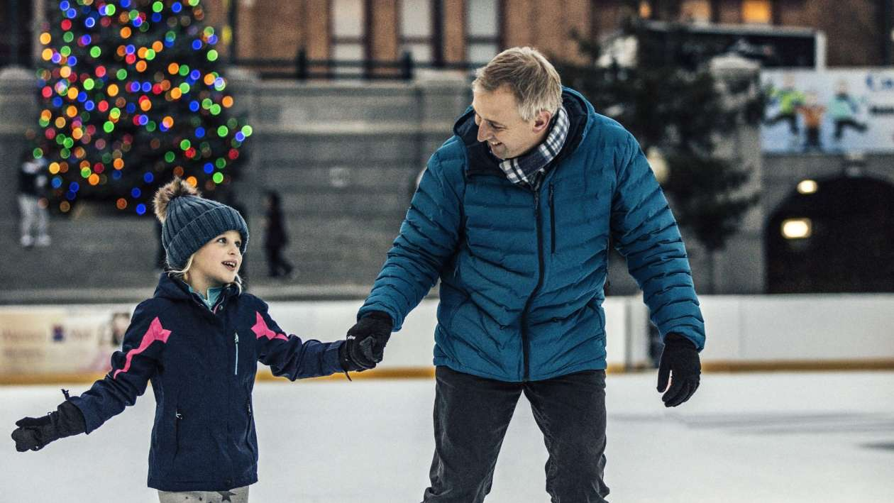 Skating at Alex & Ani