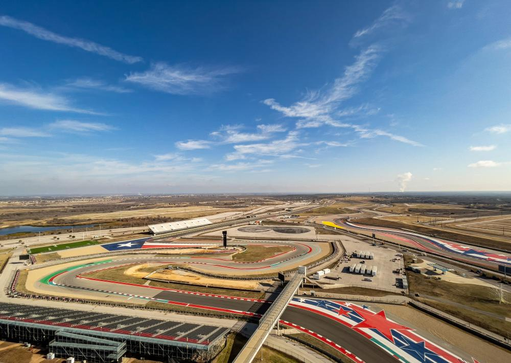 Circuit of The Americas track in Austin Texas