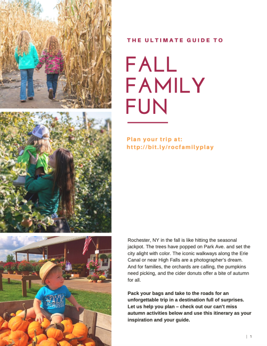 Rochester Family - Fall Fun Itinerary