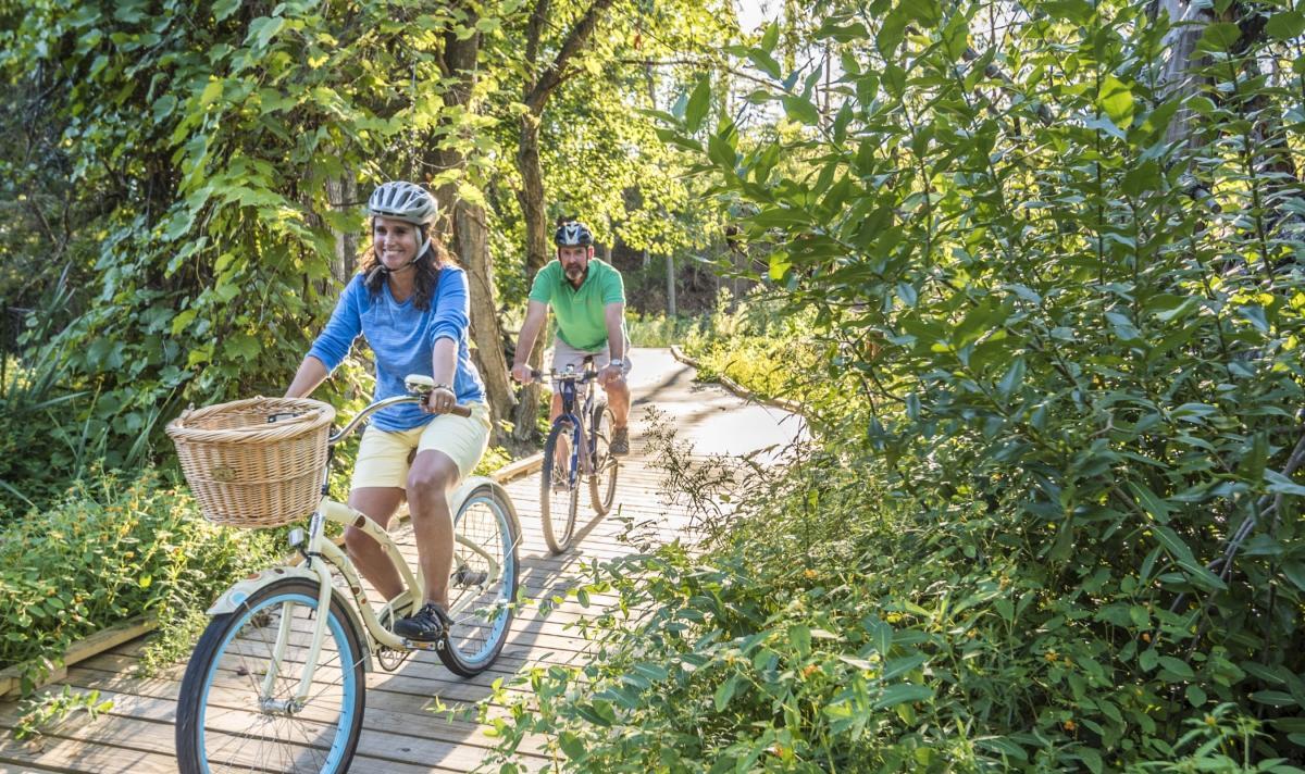 Biking on the TART Trail