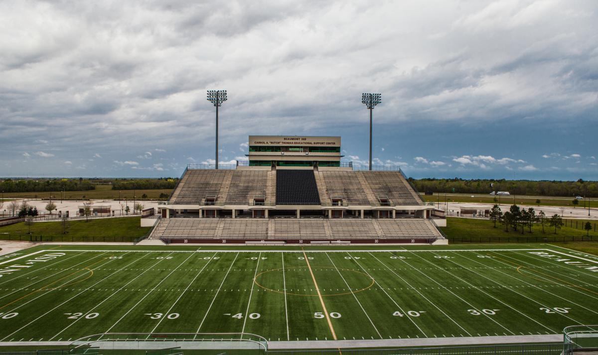 BISD Football Stadium Bleachers In Beaumont, TX