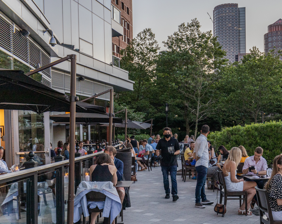 People Eating Outdoors At Lola 42 In Boston, MA