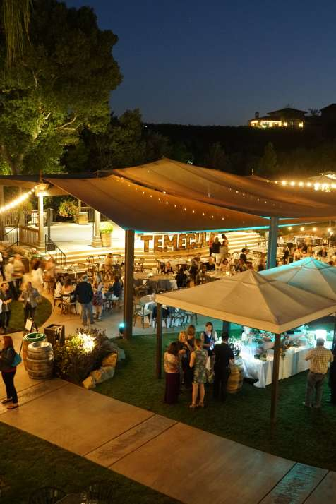 Night group event at Wilson Creek Winery