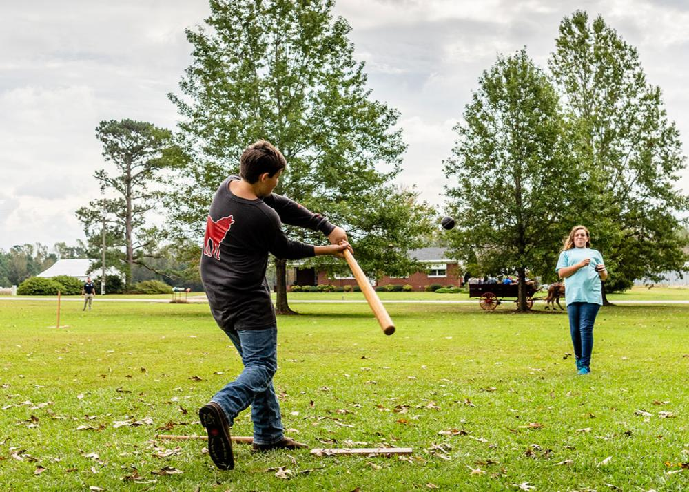 Bentonville Battlefield fall event in October, located near Four Oaks, NC.