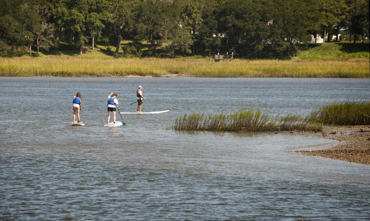 Standup Paddleboarding in the Intracoastal Waterway