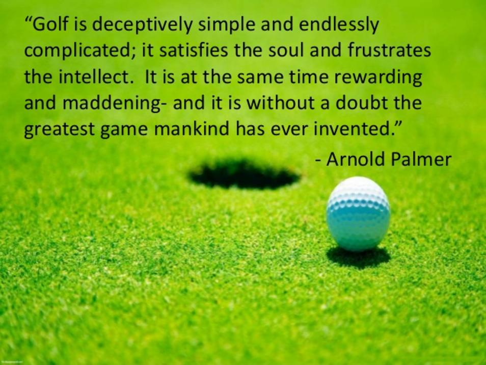 Inspirational golf quote